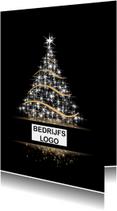 Zakelijke kerstkaarten - Kerstboom zwart met kader