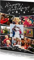 Kerstkaarten - Kerstcollage krijt 9 foto's - BK