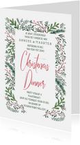 Kerstkaarten - Kerstdiner dennegroen