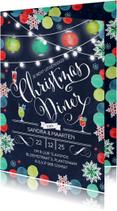 Kerstkaarten - Kerstdiner Kerst Uitnodiging