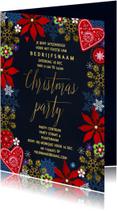 Kerstkaarten - Kerstfeest uitnodiging Goud