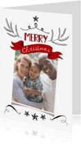 Kerstkaarten - Kerstkaart banner klassiek fotokaart