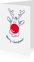 Kerstkaarten - Kerstkaart CliniClowns Rudolph 2