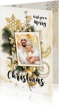 Kerstkaarten - Kerstkaart collage scrapbook staand - SG