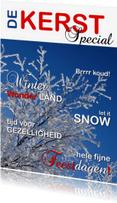 Kerstkaarten - kerstkaart cover tijdschrijf