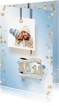 Kerstkaarten - Kerstkaart foto en ster 2018 RB