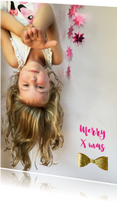 Kerstkaarten - Kerstkaart foto kind