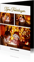 Kerstkaarten - Kerstkaart fotocollage staand 2018