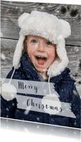 Kerstkaarten - Kerstkaart grote foto staande kaart - BK