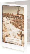 Kerstkaarten - Kerstkaart-Holland Tafereel