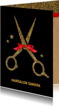 Zakelijke kerstkaarten - Kerstkaart Kapsalon Logo