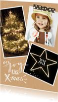 Kerstkaarten - kerstkaart karton letters foto