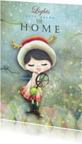 Kerstkaarten - Kerstkaart lieve engel met kerstboodschap