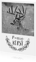 Kerstkaarten - Kerstkaart met foto van een hert