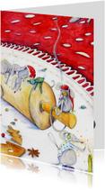Kerstkaarten - Kerstkaart muizen kerstkaart 1