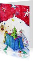 Kerstkaarten - Kerstkaart muizen kerstkaart 2