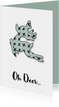 Kerstkaarten - Kerstkaart Oh Deer mint