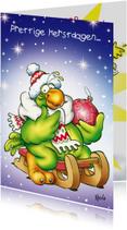 Kerstkaarten - Kerstkaart Rocco Slee - RN