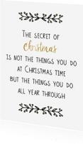 Kerstkaarten - Kerstkaart Secret of Christmas