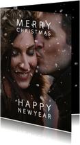 Kerstkaarten - Kerstkaart sneeuweffect over de foto