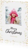 Kerstkaarten - Kerstkaart staand gouden confetti - BK
