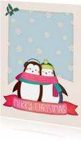Kerstkaarten - Kerstkaart staand pinguïns - BK