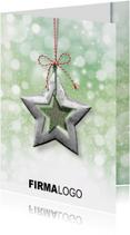 Zakelijke kerstkaarten - Kerstkaart ster groen rood rh
