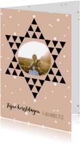 Kerstkaarten - Kerstkaart ster stip - HM