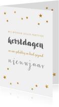 Kerstkaarten - Kerstkaart sterretjes typografie - BC