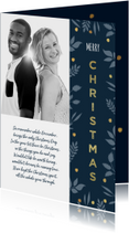Kerstkaart stijlvol met foto en goudlook accenten