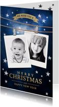 Kerstkaarten - Kerstkaart stijlvol met foto's