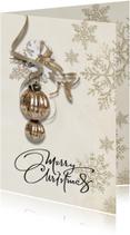 Zakelijke kerstkaarten - Kerstkaart taupe klassiek - SG