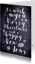 Kerstkaarten - Kerstkaart tekstueel met krijt