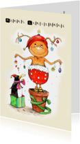 Kerstkaarten - Kerstkaart van een vrolijke kerstelf