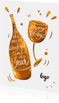 Kerstkaart Wijn met logo