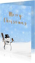 Kerstkaarten - Kerstkaart winter roodborstje