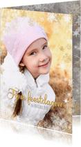 Kerstkaarten - Kerstkaart winterse rand