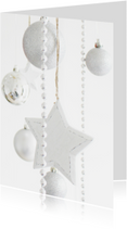 Zakelijke kerstkaarten - Kerstkaart zilver&wit