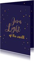 Kerstkaarten Chriselijk Jesus light of the world