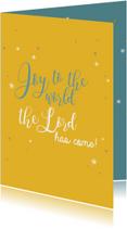 Kerstkaarten christelijk joy to the world