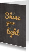 Zakelijke kerstkaarten - Kerstkaarten - Shine your Light