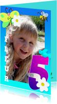 Kinderfeestjes - Kinderfeest fotokaders 5 jaar