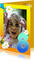 Kinderfeestjes - Kinderfeest fotokaders 8 jaar