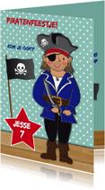 Kinderfeestjes - Kinderfeest piraat blauw