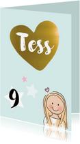 Kinderfeestjes - Kinderfeest tiener kaart Tess