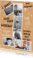 Kinderfeestjes - Kinderfeestje 1 jaar van foto's karton