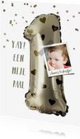 Kinderfeestjes - Kinderfeestje 1e verjaardag ballon