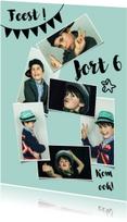 Kinderfeestjes - Kinderfeestje 6 jaar fotocollage jongen of meisje