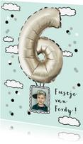 Kinderfeestjes - Kinderfeestje ballon 6 jaar met eigen foto's