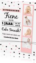 Kinderfeestjes - Kinderfeestje cake smash roze